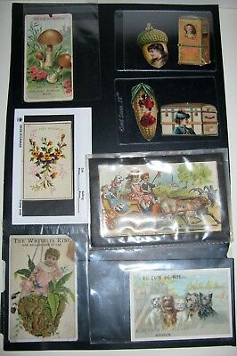 Lot of Vintage Victorian Antique Advertising Trade Cards
