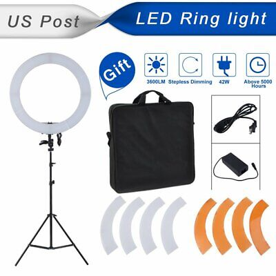 """US 18"""" Dimmable 240LED Ring Light Camera Photo Video Lighting Kit for Make Up MA"""