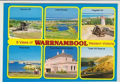 Multiscene Warrnambool Victoria Rose Postcard