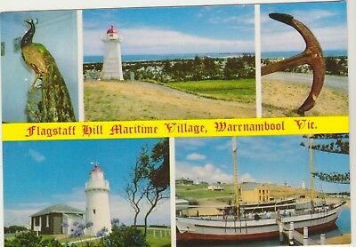 Multiscene Flagstaff Hill Maritime Village Warrnambool Victoria Rose Postcard