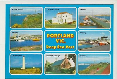 Multiscene Deep Sea Port Portland Victoria Rose Postcard