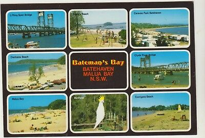 Multiscene Malua Bay Batehaven Bateman's Bay Nsw Rose Postcard