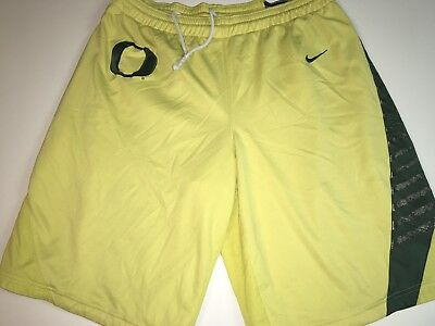 04acdcc2500d Nike Oregon Ducks Authentic Yellow Green Basketball Shorts Men s Size M