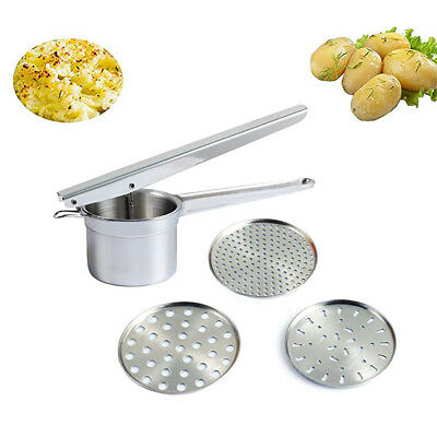 Potato Ricer Stainless Steel Presser With 3 Interchangeable Discs Food Grade