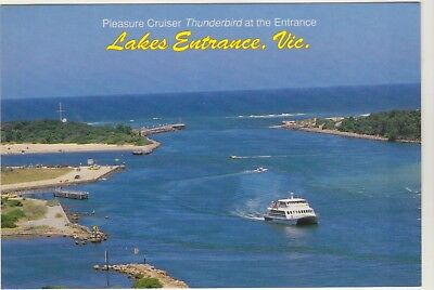 Pleasure Cruiser Thunderbird Lakes Entrance Victoria Rose Postcard
