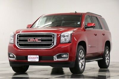 2015 GMC Yukon 4X4 DVD Leather Crystal Red Tintcoat 4WD Used Heated Cooled Cocoa Dune Seats Camera Bluetooth 7 Passenger 16 17 2016 15