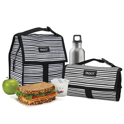NEW Packit Freezable Lunch Bag Wobbly Stripes