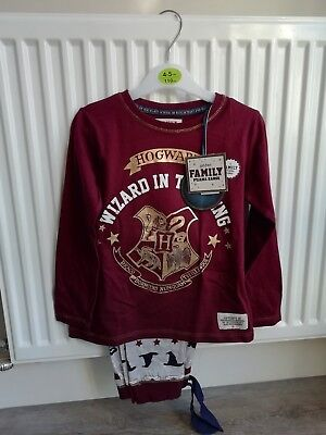 Childs boys or girls Harry Potter ' Wizard In Training' Pyjamas Age 4-5