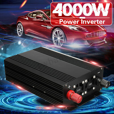 4000W 60Hz Pure Sine Wave Power Inverter DC 12V to 110V AC Converter Car Caravan
