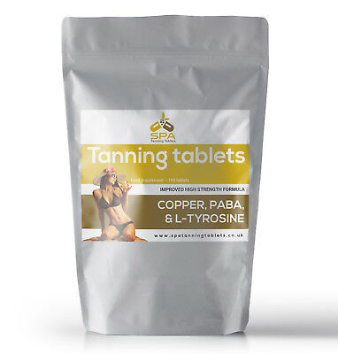 Tanning Pills - 6 Month Course - Safe Sunless Sun Tan Tablets