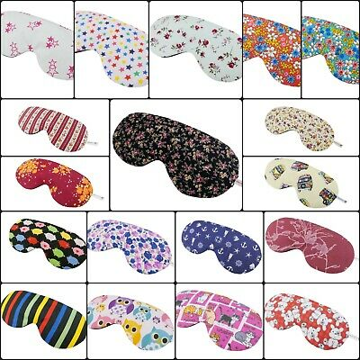 18 variation Adjustable White elastic sleepmask 100% COTTON Hand Made Blindfolds