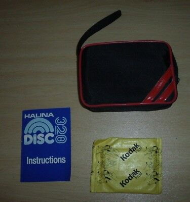 Halina Disc 328 Camera Case, Instructions and Spare Film Cartridge bundle only