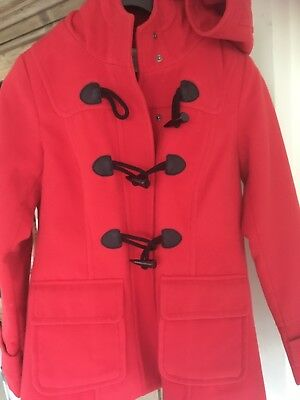 Red Girls Duffle Coat Size 8