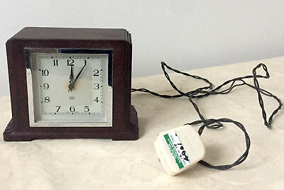 Vintage Bakelite SMITH SECTRIC Mantel Clock Art Deco electric working pat tested