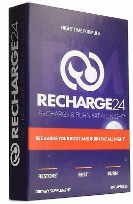 RECHARGE24 PM Sleeping Pills Organic Sleep Aids for Adults Extra Strength