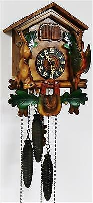 Antique German Cuckoo Wall Clock Black Forest 3 Weight Musical Automaton Clock