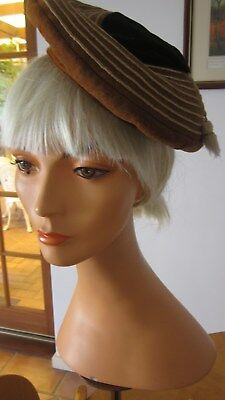 1960,s .original and fab beret with tassel .Fab !Made by Tobogan
