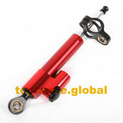 Universal Adjustable CNC Steering Damper Stabilizer Reversed Safety Control Red