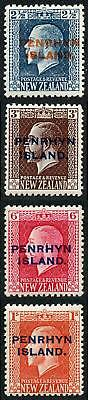 Penrhyn Islands SG24a/27a 1917 Perf 14 x 14.5 Set of 4 M/Mint