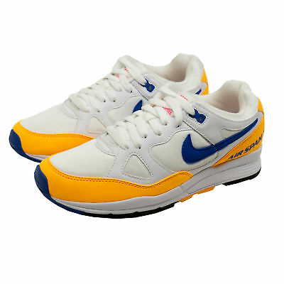 pick up ceb79 8a704 Nike Air Span II Hommes Baskets Chaussures Sneakers Blanc Bleu Jaune  AH8047-103