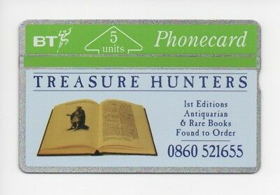BT Phonecard BTP103, Treasure Hunters, Antiquarian & Rare Books, mint unused