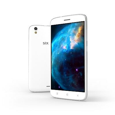 STK Sync 5e, 5 Inch, Dual SIM Android Smartphone - White - USED