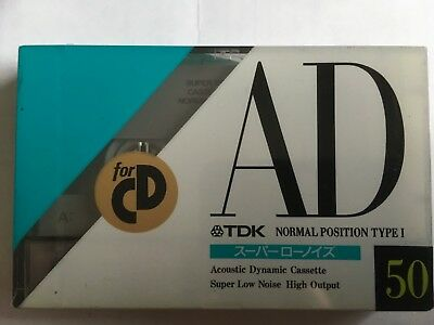 Tdk Ad 50 Factory Sealed Audio Cassette Japan