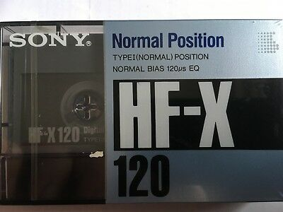 Sony Hf-X 120 Factory Sealed Audio Cassette Japan