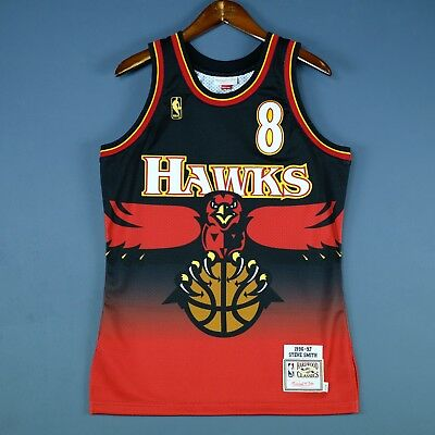 100% Authentisch Steve Smith Mitchell & Ness 96 97 Hawks Trikot Size 36 S Herren