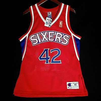 100% Authentisch Jerry Stackhouse Vintage Champion Sixers NBA@50. Trikot Size 40