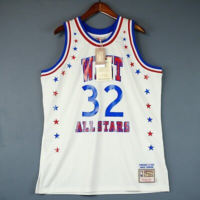 100% Authentisch Magic Johnson Mitchell Ness 1983 All Star Spiel Trikot Size 48