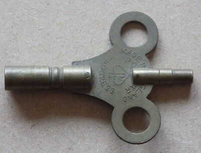 Vintage Double Ended Brass Clock Key