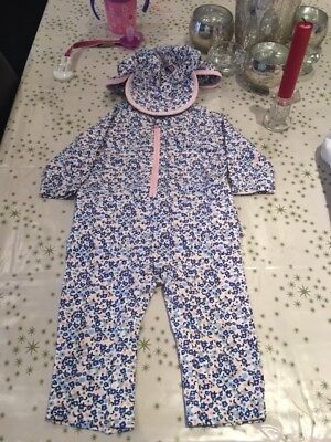Baby Girl, sun safe suit from Marks and Spencer age 9-12 months