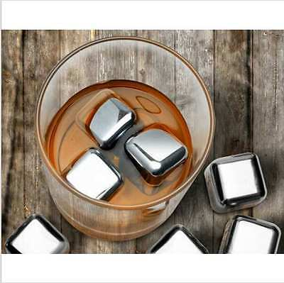 Metal Ice Cubes High Quality Stainless Steel Cubes Soapstone Chillers Stone UK