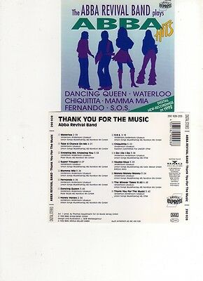 abba revival band  thank you for the music cd