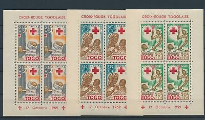 LJ63525 Togo 1959 Red Cross sheets MNH