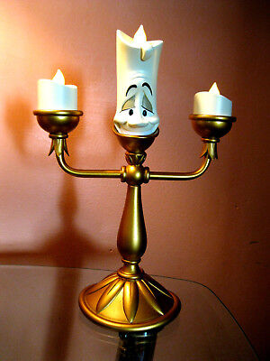 Disney Parks Exclusive Beauty And The Beast Light-Up Lumiere Candlestick Figure