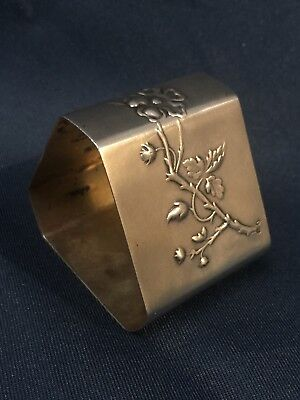 Large Sterling Silver Art Nouveau Napkin Ring-  1890-1900