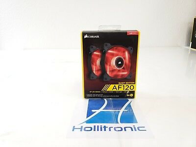 Corsair Air Series AF120 LED Quiet Edition High Airflow Fan Twin Pack Red
