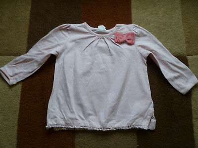 Baby's (4-6 mths) Pink Long Sleeved Bow Top by H&M (Excellent Condition)