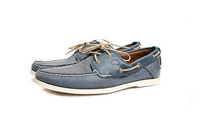 Timberland Heritage 2 Eye Earthkeeper Boat Shoes Navy Blue 6367A SALE