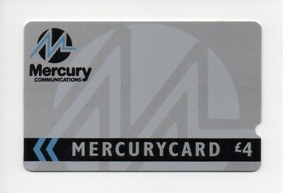 Mercurycard MER005, Corporate Silver, £4 mint unused