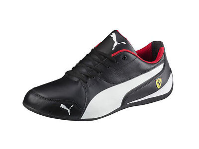 Puma Men's SCUDERIA FERRARI DRIFT CAT 7 Shoes Black/White 305998-02 c