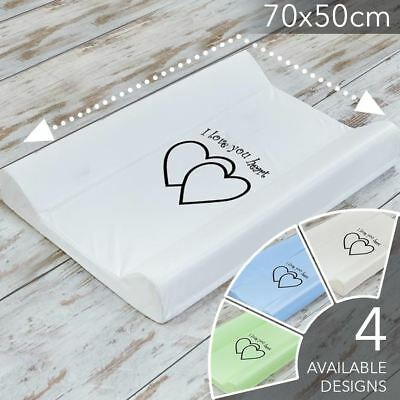 BABY HARD BASE BABY CHANGING MAT UNIT COT TOP CHANGER 70x50 WITH HEART DESIGN