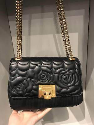 NWT Michael Kors Vivianne Black Quilted Leather Medium Shoulder Flap Bag 076afcf6514b3