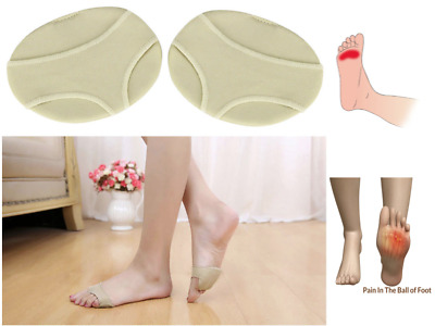 Forefoot Insoles Fabric Gel Metatarsal Pads Ball of Foot Cushions Pain Relief