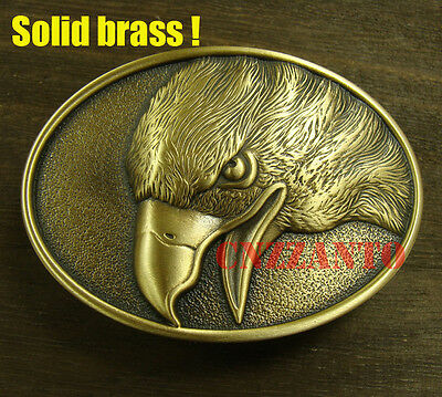 Heavy duty Eagle Solid Brass Classical plate Belt Buckle 1.5 inch (38mm) belt