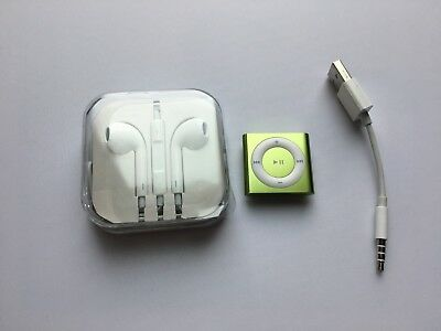 Apple iPod shuffle 4th Generation Light Shiny Green (2 GB) mint