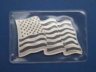 American Flag Waving 1oz .999 Pure Silver Bar Sunshine Minting Factory Sealed