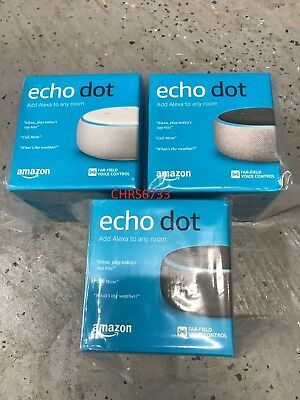 New Amazon Echo Dot 3rd Gen Smart speaker Alexa Charcoal Sandstorm Heather Gray